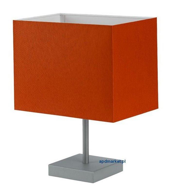Lampa stołowa Calipso pomarańczowa abażur prostokątny