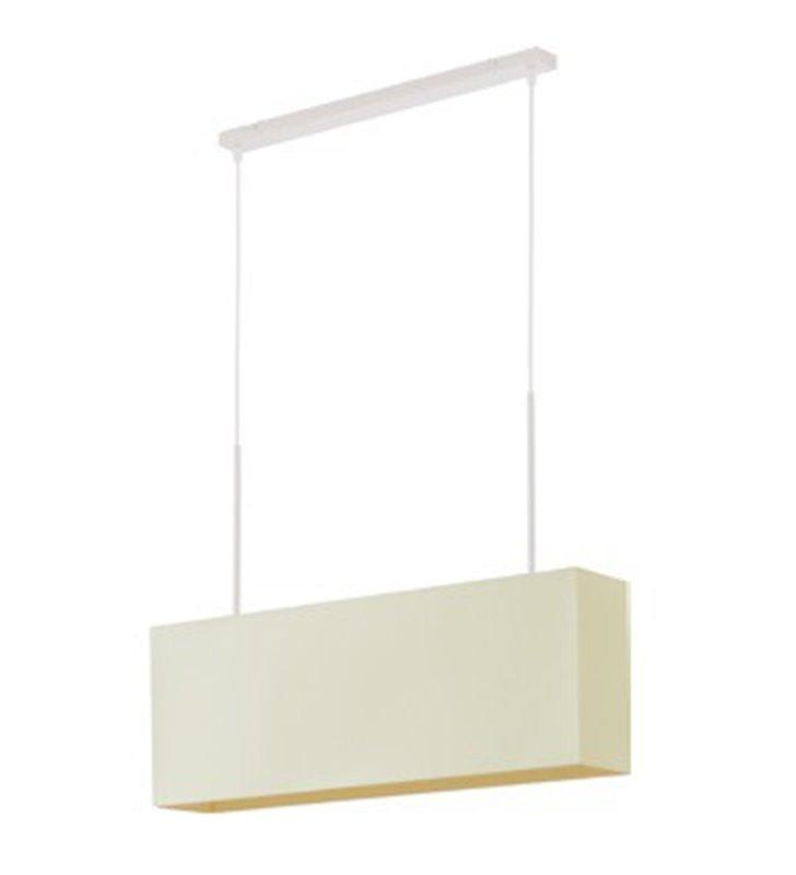 Lampa wisząca Cruz biała podłużna prostokątny abażur do salonu sypialni jadalni kuchni nad stół wyspę kuchenną