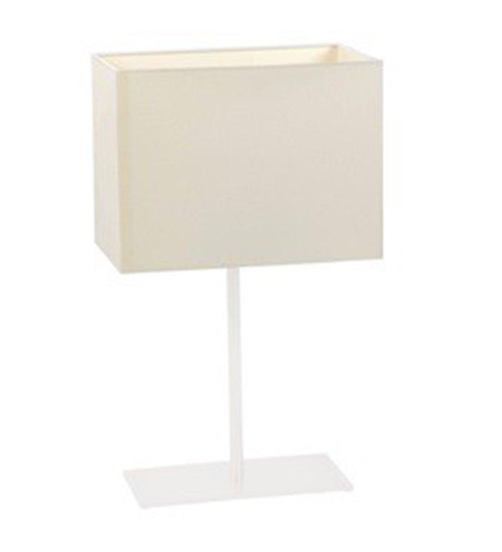 Lampa stołowa Cruz biała prostokątna do salonu sypialni jadalni