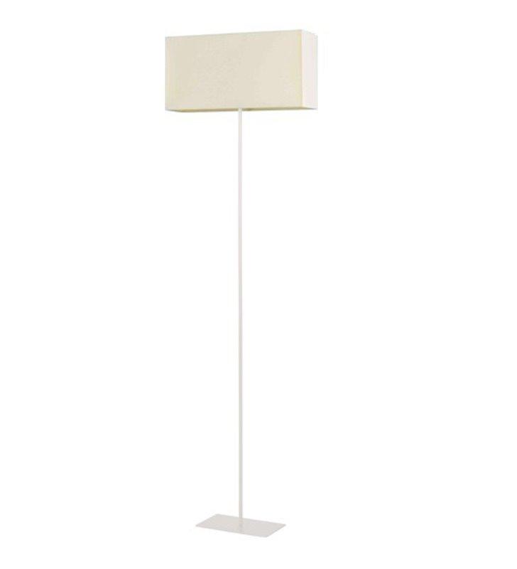 Lampa podłogowa Cruz biała abażur prostokątny