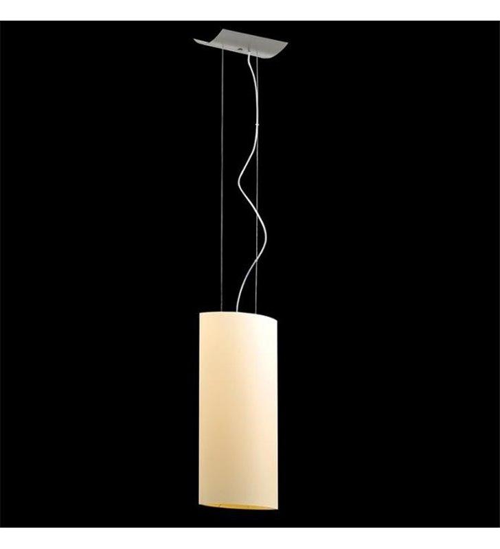 Lampa wisząca Camino podłużny wąski klosz ecru