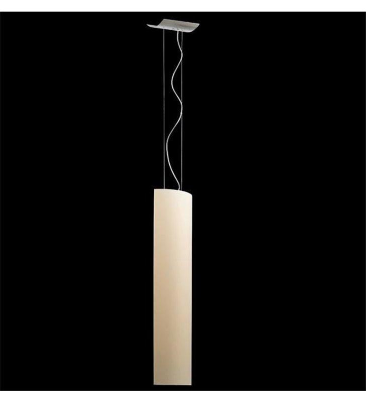 Lampa wisząca Camino M ecru długi wąski klosz