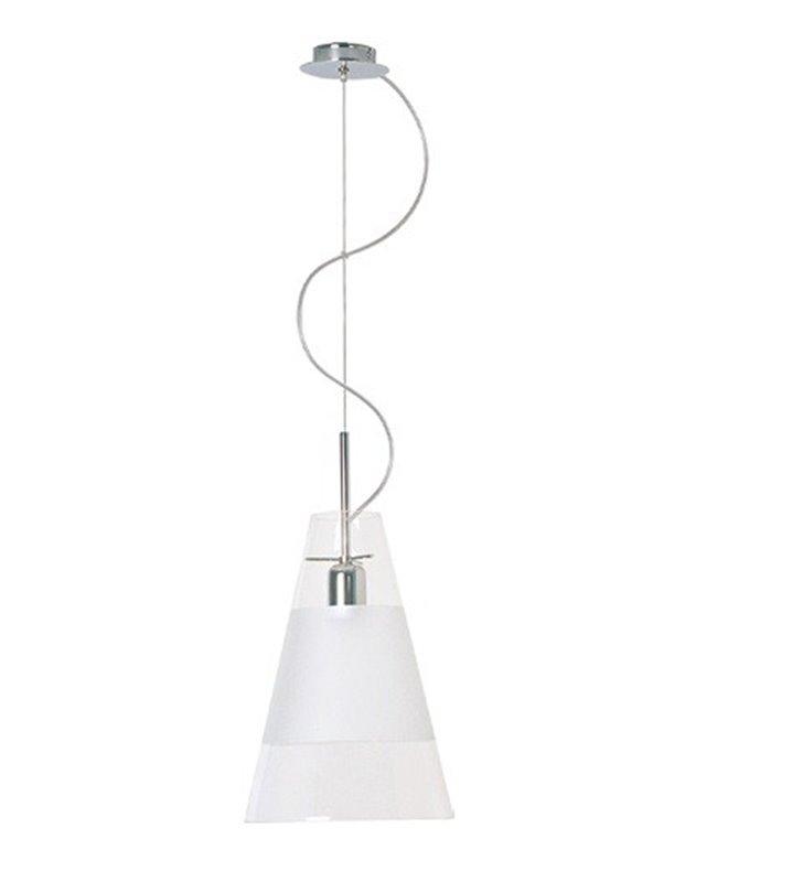 Lampa wisząca Dzwon Półmat klosz szklany stożek