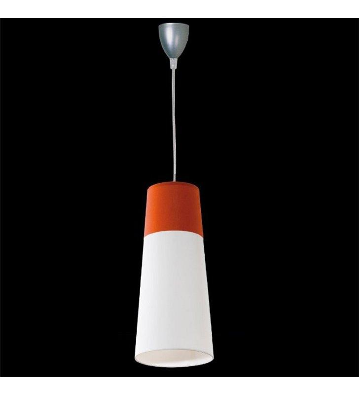 Lampa wisząca Koma biało pomarańczowy abażur
