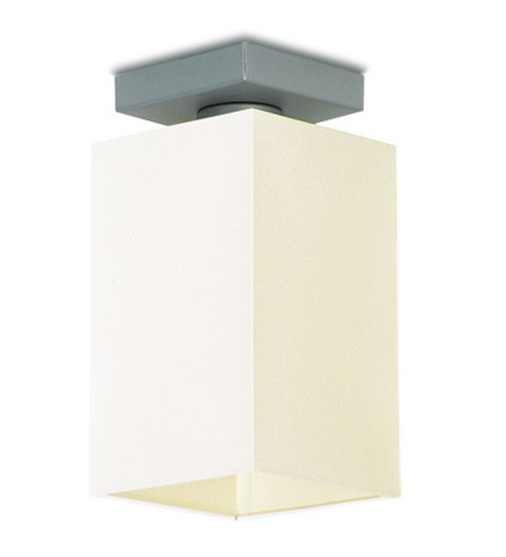 Lampa sufitowa Piko mała kwadratowa abażur kolor ecru