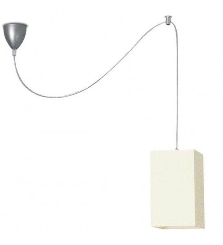 Lampa wisząca Piko pojedyncza abażur kwadratowy ecru