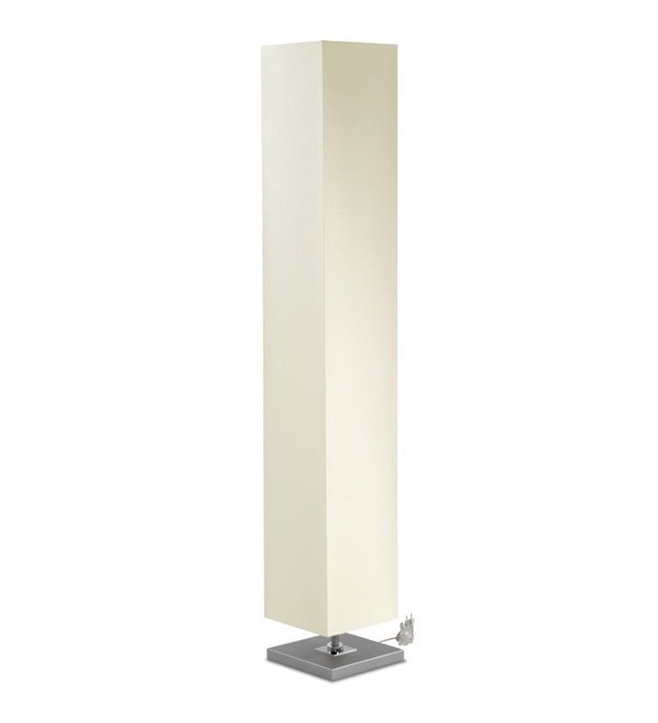Lampa podłogowa Piko Max wysoki wąski abażur ecru do salonu sypialni jadalni na przedpokój hol