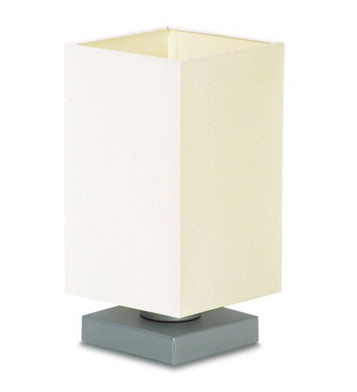Lampa Piko mała abażur kwadratowy ecru