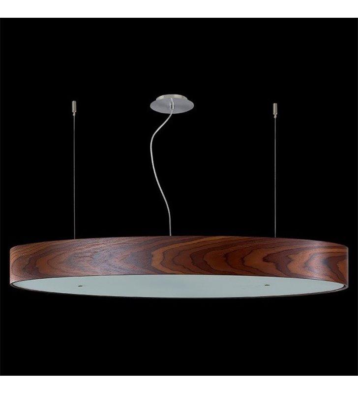 Lampa wisząca Owal duża owalna klosz fornirowany palisander
