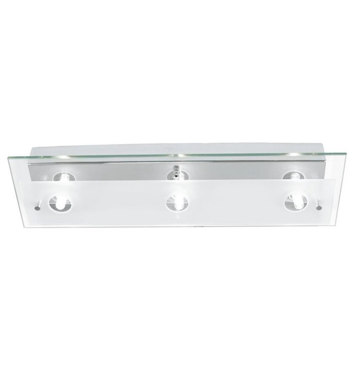 Podłużny prostokątny plafon łazienkowy Fres