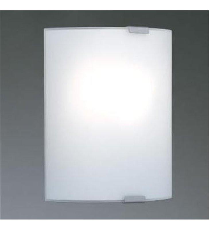 Kinkiet łazienkowa Grafik biały ze szkła giętego