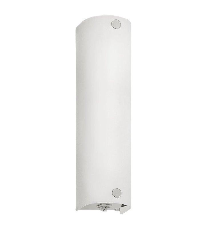 Lampa łazienkowa Mono białe satynowane szkło włącznik