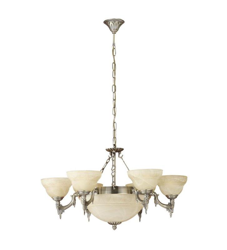 Żyrandol Marbella 6 ramion i ampla klasyczny dekoracyjny do salonu sypialni jadalni
