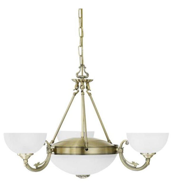 Klasyczny stylowy żyrandol 3 ramienny z amplą Savoy
