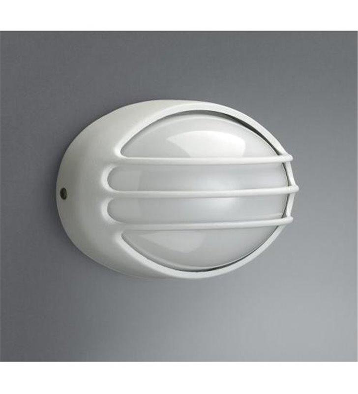 Biała owalna ścienna lampa ogrodowa Cleveland - DOSTĘPNA OD RĘKI