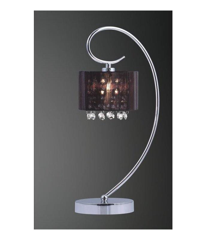 Lampa stołowa Span czarny abażur z kryształkami
