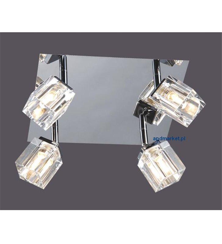 Lampa sufitowa Crt 4 punktowa kwadratowa chromowana