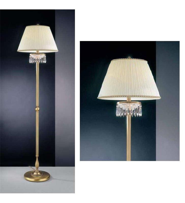Lampa podłogowa stojąca z kryształkami Lombardia
