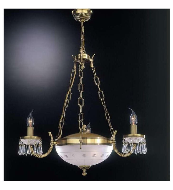 Żyrandol Umbria świecowe żarówki kryształy