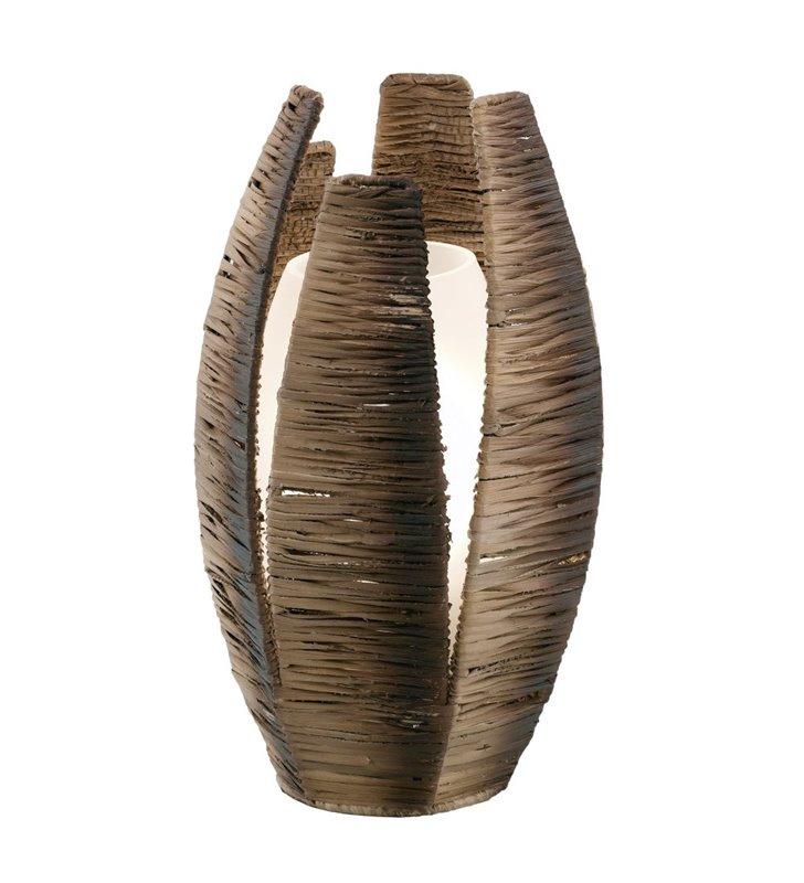Lampa stołowa Mongu brązowa klosz z łyka - DOSTĘPNA OD RĘKI
