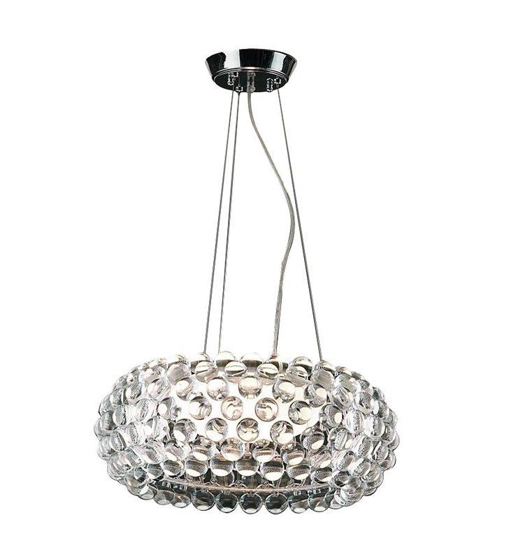 Ekskluzywna lampa wisząca Acrylio duża nowoczesna klosz z akrylowymi kulkami do salonu sypialni jadalni nad stół