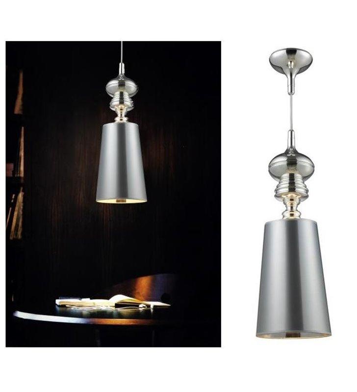 Lampa wisząca Baroco srebrna designerska w stylu glamour