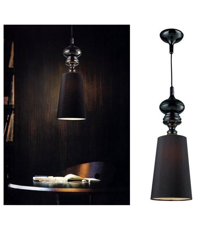 Lampa wisząca Baroco czarna designerska w stylu glamour