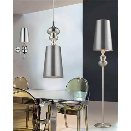 Kinkiet Baroco srebrny pojedynczy designerski w stylu glamour