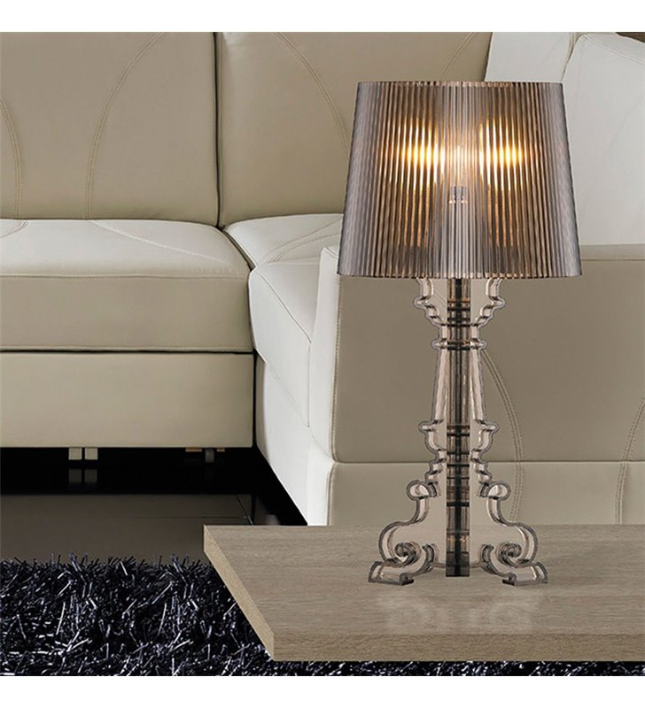Lampa stołowa Bella czarna akrylowa w stylu nowoczesnym