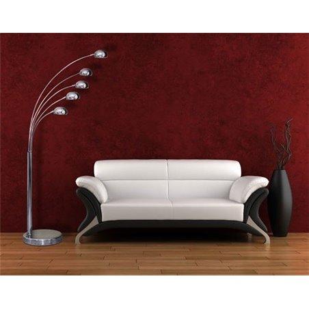 Wysoka lampa podłogowa Palp chromowana nowoczesna 5 kloszy do salonu sypialni