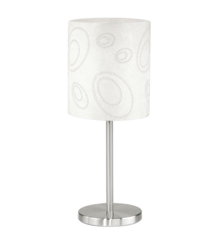 Lampa stołowa Indo beżowy materiałowy abażur - DOSTĘPNA OD RĘKI