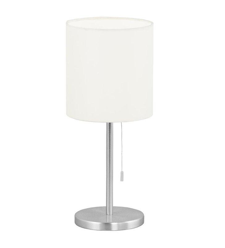 Lampa stołowa Sendo beżowa abażur włącznik sznureczkowy - DOSTĘPNA OD RĘKI
