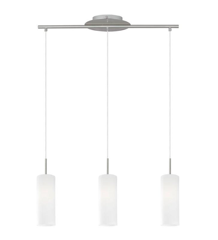 Lampa wisząca Troy3 potrójna ze szklanymi kloszami