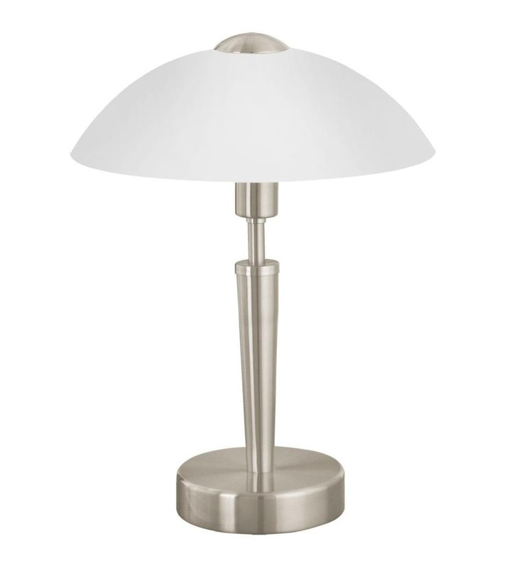 Lampa stołowa gabinetowa Solo1 kolor nikiel z włącznikiem dotykowym