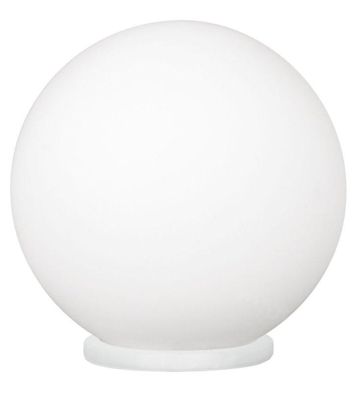 Lampa stołowa szklana kula Rondo średnica 20cm