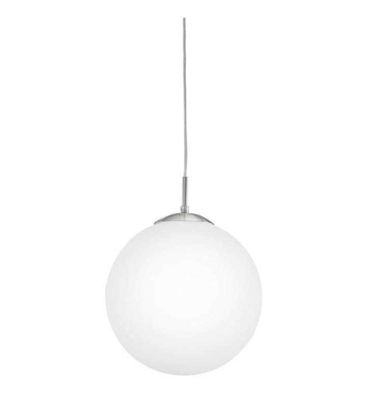 Szklana lampa wisząca Rondo 30cm kula