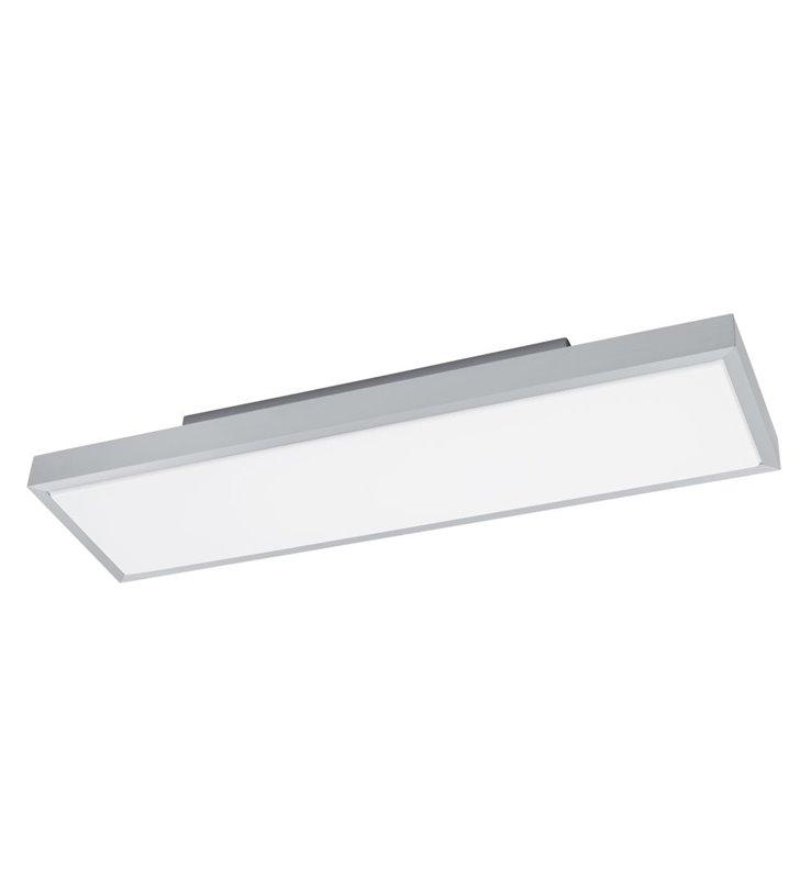 Plafon Idun1 prostokątny kolor aluminium