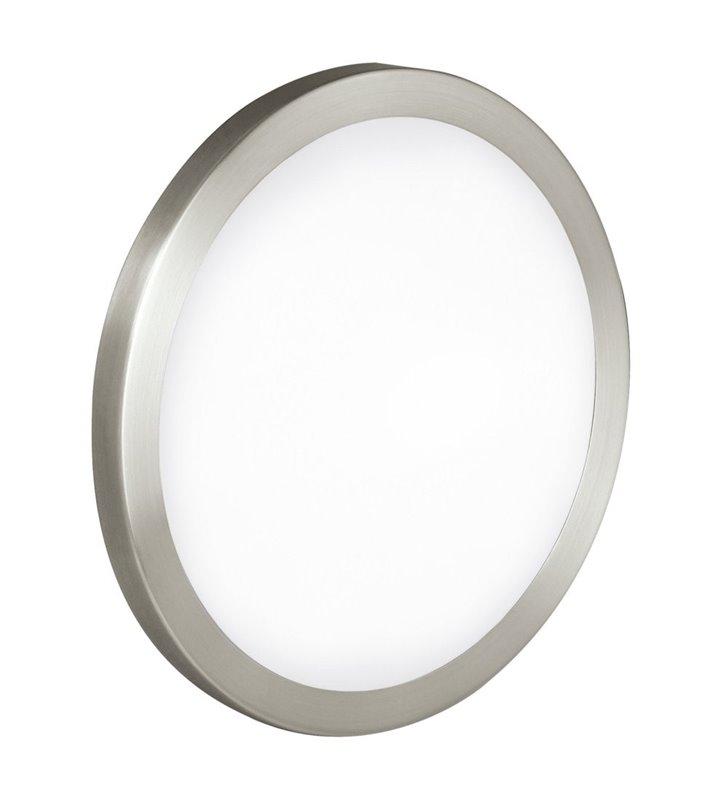 Plafon Arezzo 425 okrągły klosz szkło metal nikiel satyna 2 żarówki