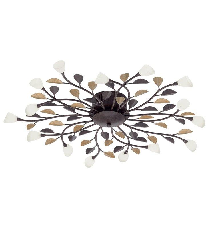 Lampa sufitowa Campania duża wielopunktowa styl klasyczny do niskich pomieszczeń do salonu sypialni kuchni na korytarz