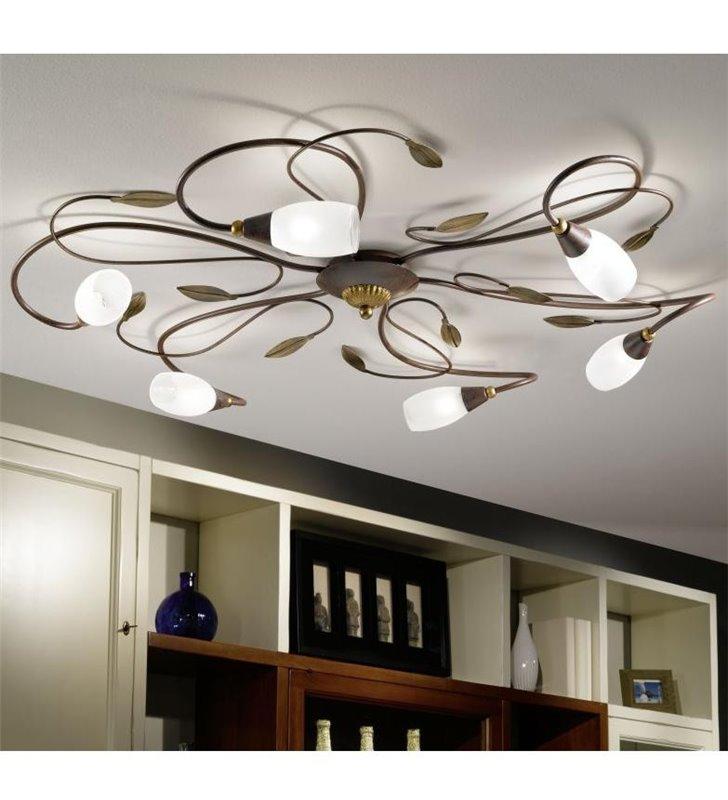 Duża dekoracyjna lampa sufitowa Gerbera1 do salonu sypialni na korytarz