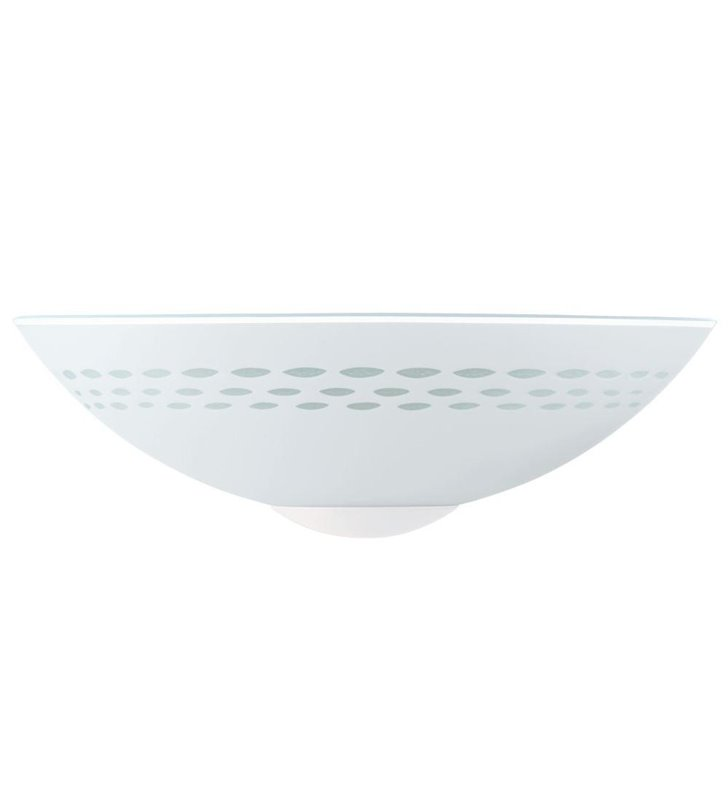 Kinkiet Twister biały z subtelnym wzorem