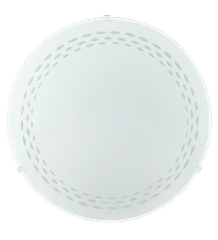 Mały biały plafon ze szkła Twister 250