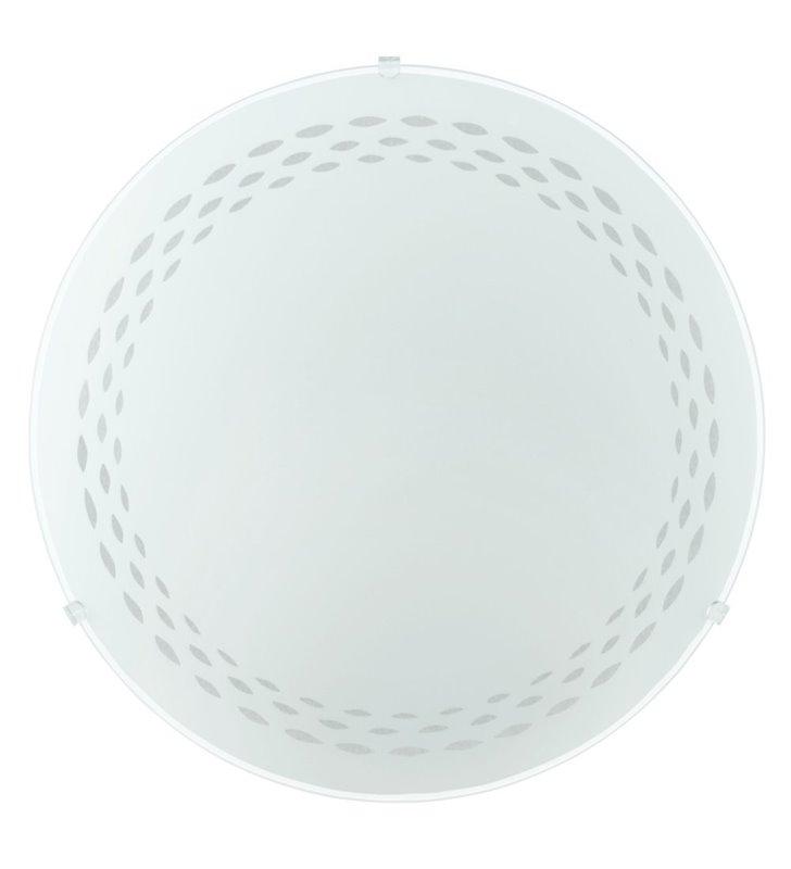 Plafon Twister 395 biały szklany wzór na kloszu 2 żarówki
