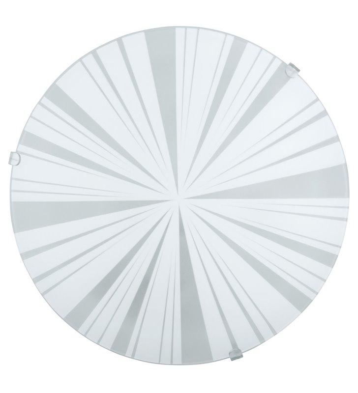 Plafon Mars1 245 okrągły klosz szklany z ozdobnym wzorem - DOSTĘPNY OD RĘKI