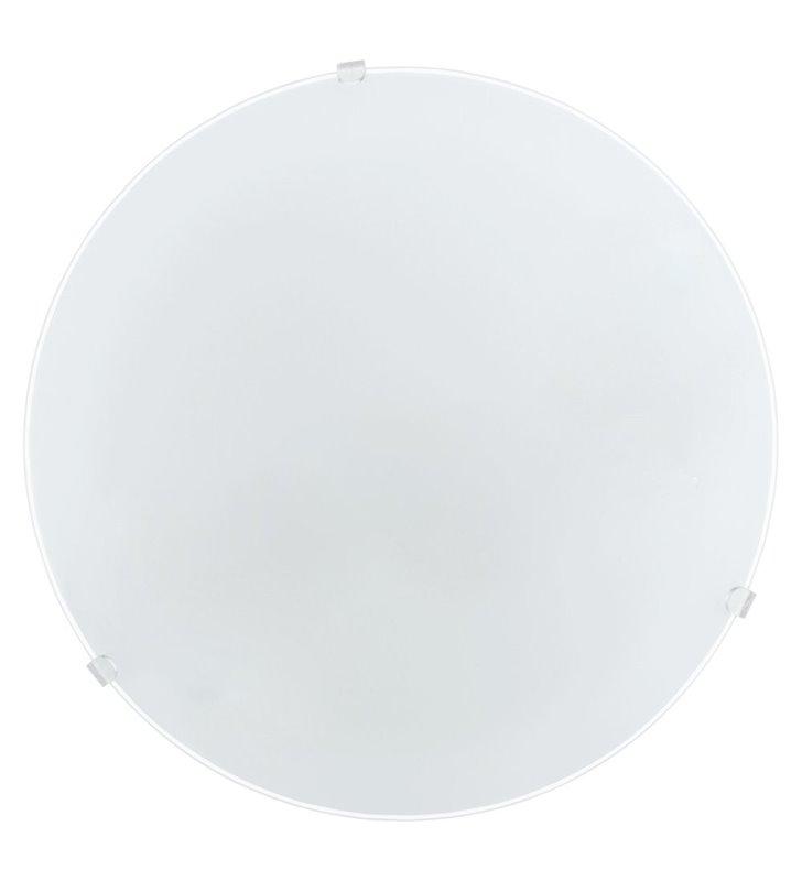Plafon Mars 245 biały okrągły szklany gładki - DOSTĘPNY OD RĘKI