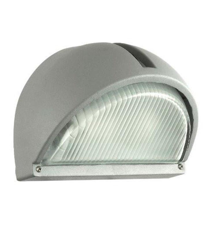 Lampa ścienna ogrodowa Onja srebrna nowoczesna - DOSTĘPNA OD RĘKI