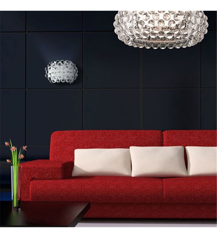 Plafon Acrylio 670 duży okrągły klosz z akrylowymi kulkami do salonu sypialni przedpokoju