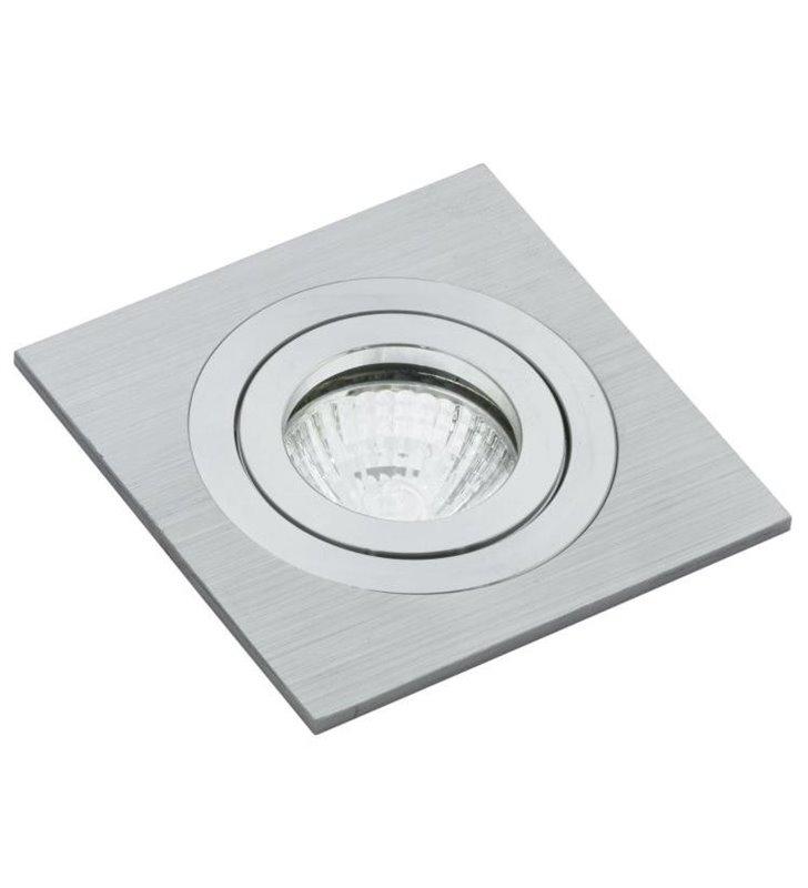 Kwadratowa oprawa punktowa w kolorze aluminium Terni