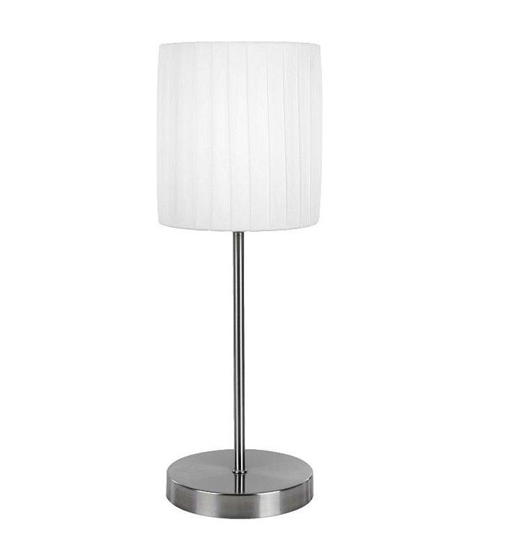 Lampa stołowa La Nube ze ściemniaczem dotykowym biały plisowany abażur - OD RĘKI