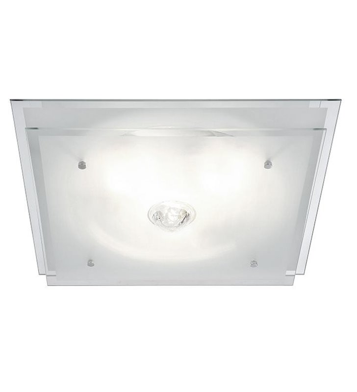 Kwadratowy szklany plafon Malaga 420 - DOSTĘPNY OD RĘKI